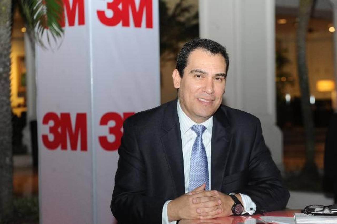 Ricardo Saleme, director de 3M para Centroamérica y El Caribe. Foto EDH/marlon hernández