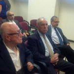 Varios de los implicados se presentaron al Juzgado 7° de Paz para escuchar la resolución. Foto vía Twitter Jaime López