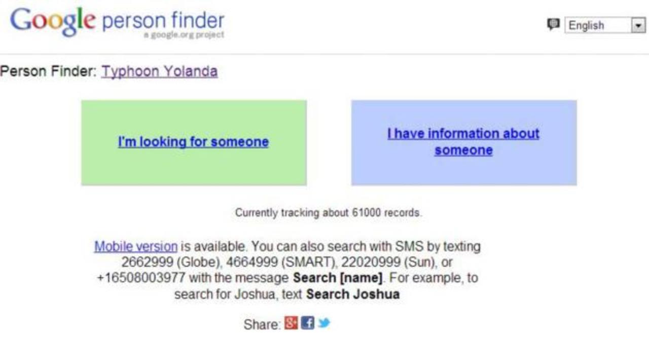 Google habilitó su buscador de personas tras paso de tifón en Filipinas.
