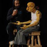 Sergio Mercurio y Juanito, el personaje principal de la obra Viejos de mi... Foto EDH / Marvin Recinos