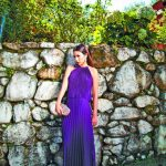 Diseño plisado escote alto de Mimi Boutique & Novias. fotos Luis Valencia Studio