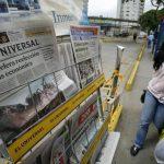 """Según el gobierno venezolano, los periódicos de mayor circulación en el país son los que han """"distorsionado el mercado"""" y por eso los diarios pequeños no tienen papel. foto edh / archivo"""