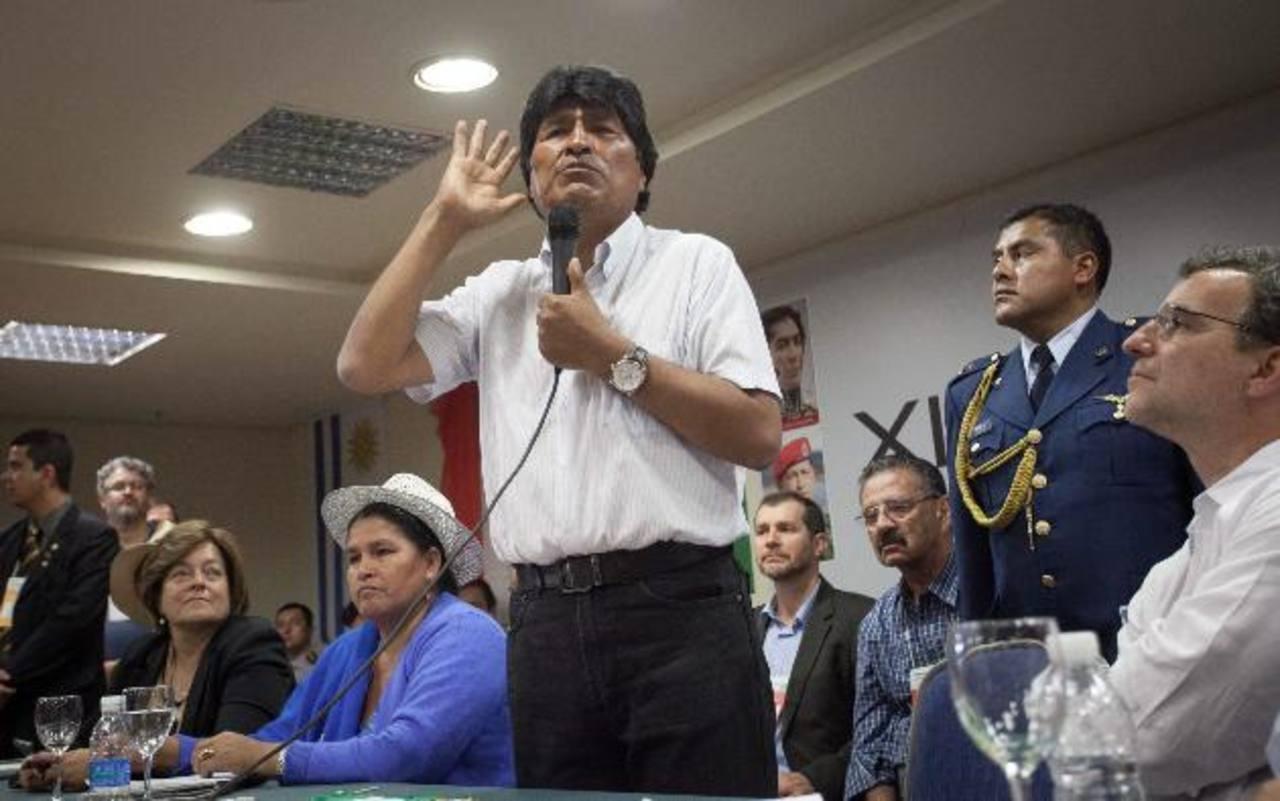 El presidente de Bolivia, Evo Morales, decretó doble aguinaldo navideño. Foto/ Archivo