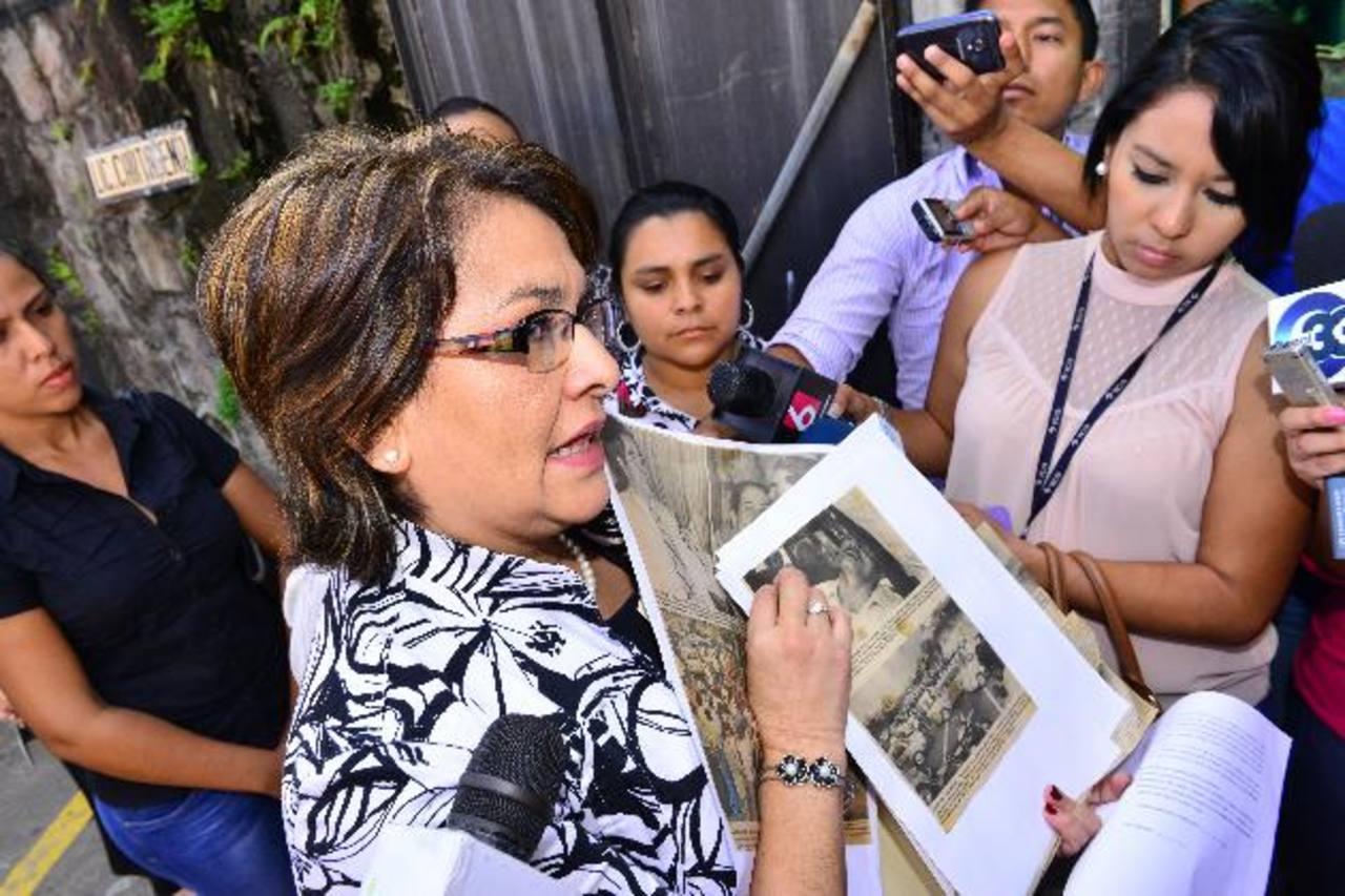 Maritza Herrera Rebollo solicitó, el pasado 4 de noviembre, la anulación de la candidatura del efemelenista Salvador Sánchez Cerén. La petición no fue admitida por el TSE. Foto EDH /archivo