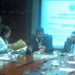 Los diputados de la comisión especial que investiga el caso CEL-Enel reanudó hoy labores tras dos meses sin reunirse. Foto vía Twitter Eugenia Velásquez