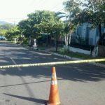 Lugar donde fue asesinado un presunto pandillero en Chinameca.