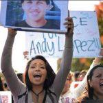 Protestas se han efectuado en el norte de California, Estados Unidos, después que un agente disparó contra un menor al verlo con un arma de juguete. FOTO de the Press Democrat