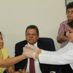 La Junta de Vigilancia Electoral realizó la prueba de la tinta indeleble que podría usarse en las elecciones presidenciales de 2014.