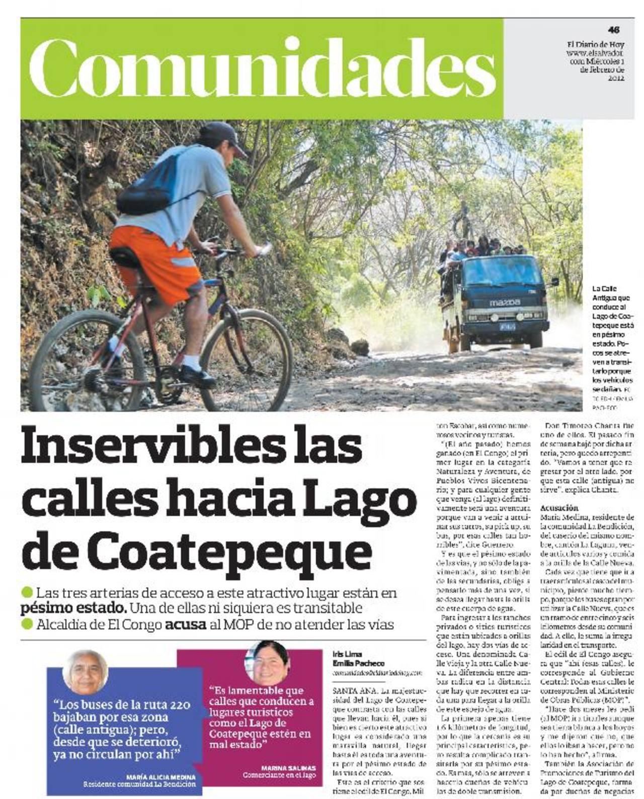 Estado de vías afecta progreso del turismo en Coatepeque