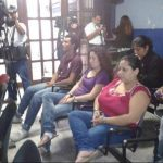 Los procesados al momento de escuchar el veredicto. FOTO EDH Omar Carbonero, vía Twitter.