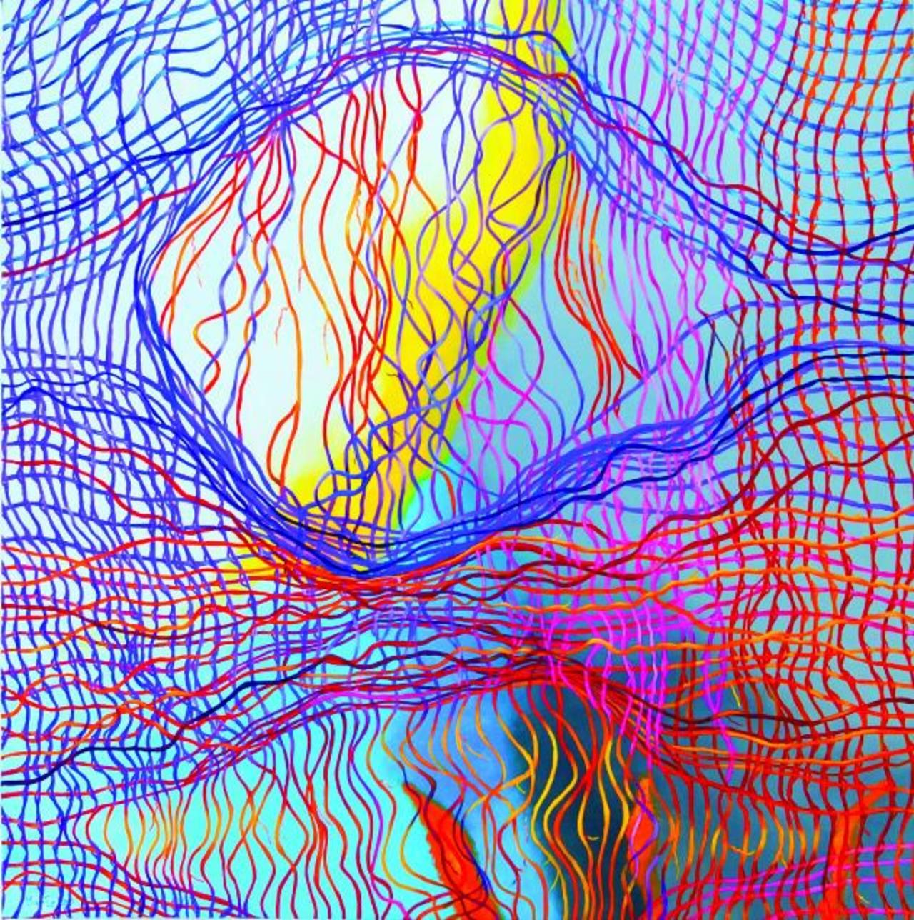 Una de las obras de la artista nicaragüense, quien afirma que para ella crear es lo más sublime. Disfruta de experimentar.