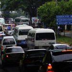 Conductores se quejaron de tráfico pesado en varias arterias de la capital.foto EDH/René estrada