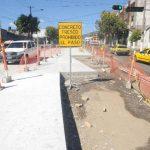 Ayer se habilitó un tramo del carril segregado del Sitramss entre el inicio de la Juan Pablo II y la 3a. Avenida Norte. Foto EDH / MARLON HERNÁNDEZ