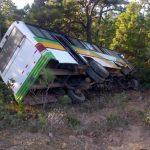 Este es el bus accidentado. FOTO EDH tomado de la cuenta de twitter de @NoeIvan0734