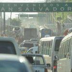 Varios puntos de la ciudad están congestionados. Foto EDH