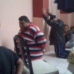 Momentos en que fue capturado Daniel Quezada a quien la Fiscalía lo acusa de lavado de dinero