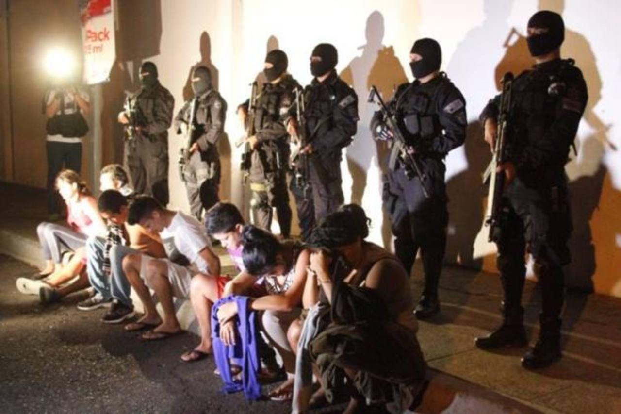 Estos son algunos de los capturados. FOTO EDH Cortesía PNC.