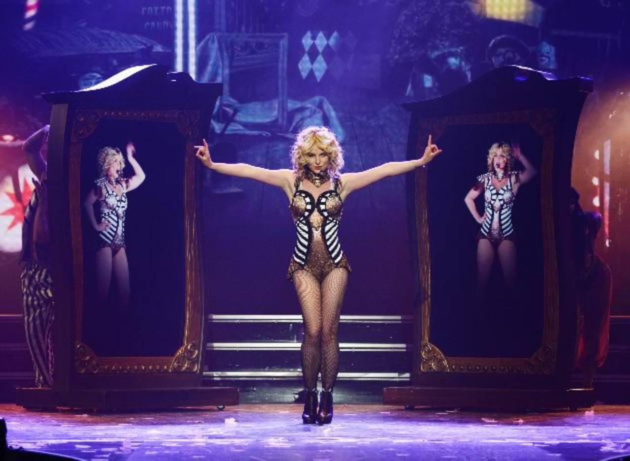 La princesa del pop durante su debut en Las Vegas. La cantante estará con su show por dos años.