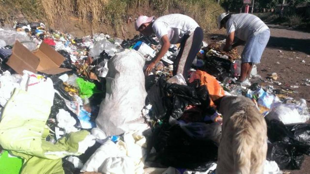 El promontorio de basura es grande por lo que piden que sea eliminado. Foto EDH / MILTON JACo