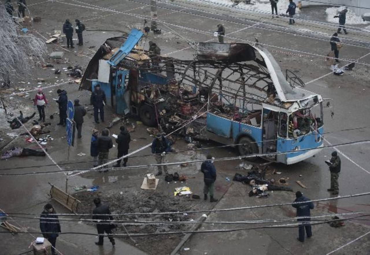 Las autoridades dicen que el ataque al autobús eléctrico también habría sido realizado por un terrorista suicida. foto edh /EFE