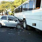 Siete personas de una misma familia resultaron lesionadas en un accidente en el desvío de Coquera, San Miguel. Foto/ Cortesía