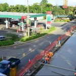 La estación de servicio El Trébol, en la carretera Panamericana, es una de las que mayores pérdidas reporta. Foto EDH / César Avilés