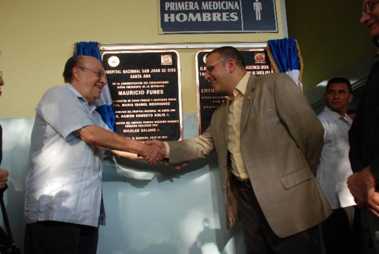 Funes dijo, cuando era candidato, que Salume le prestó $3 millones para campaña. Luego cambió la versión y dijo que se los había donado, y después que lo recibió el FMLN. Foto EDH / ARCHIVO
