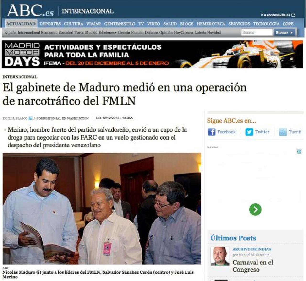 ABC liga a FMLN en operación de un narco