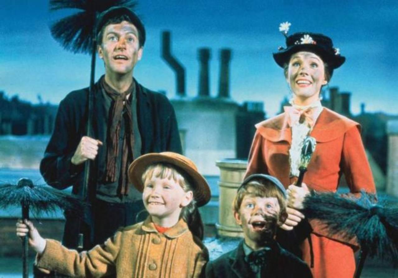"""Una de las escenas de """"Mary Poppins"""", la cinta clásica de Disney de 1964. Foto/ Archivo"""