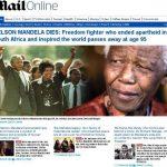 Muerte de Mandela acapara las portadas del mundo