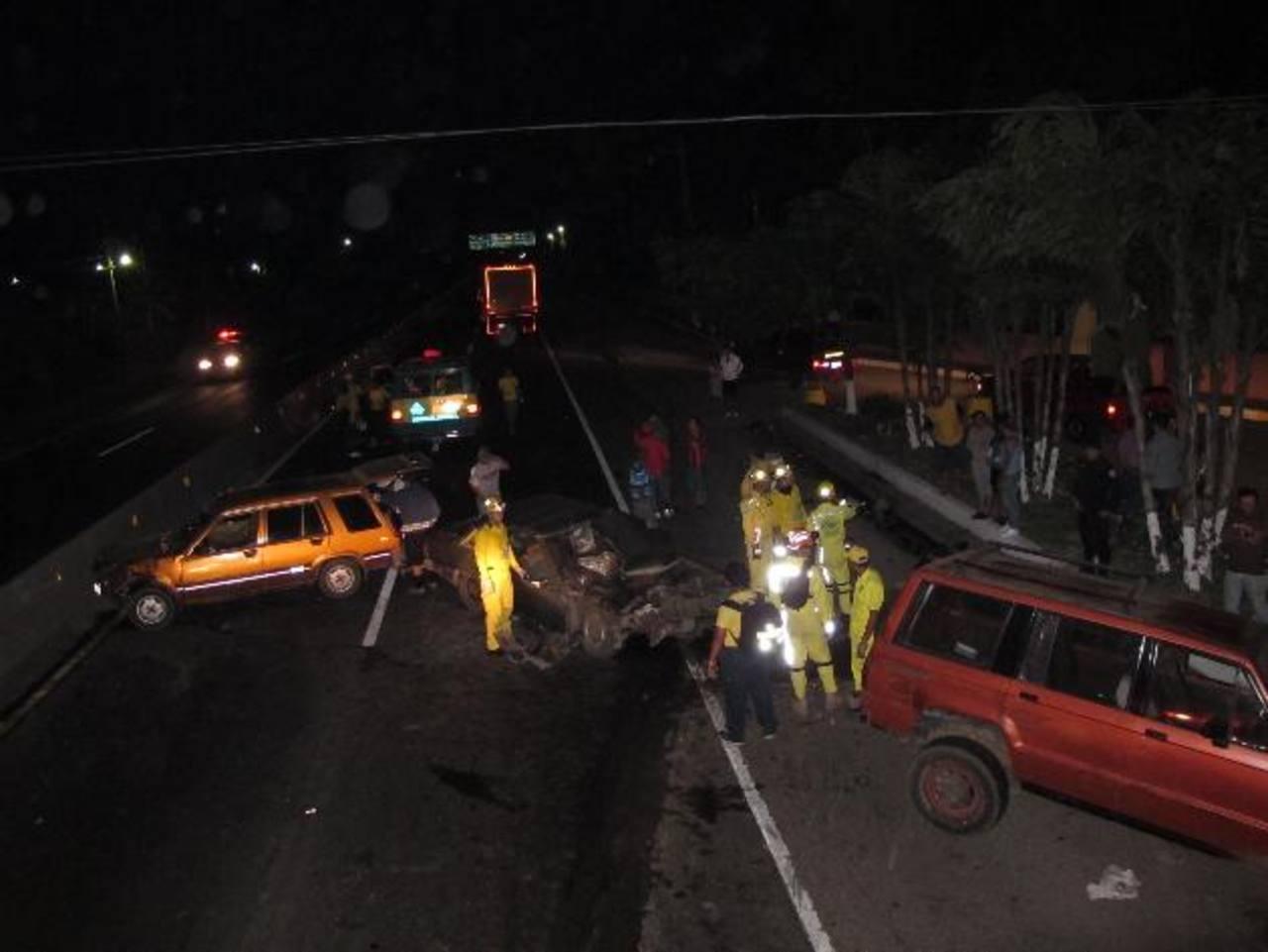 En San Juan Opico también hubo varios lesionados en otro percance vial.