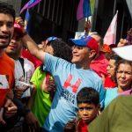 Ernesto Villegas (centro), candidato oficialista por la alcaldía mayor de Caracas. foto edh / efe