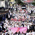 Hoy en el Día Mundial de la lucha contra el Sida, en San Salvador varios organismos realizaron una caminata para conmemorar la fecha. Foto EDH Jorge Reyes