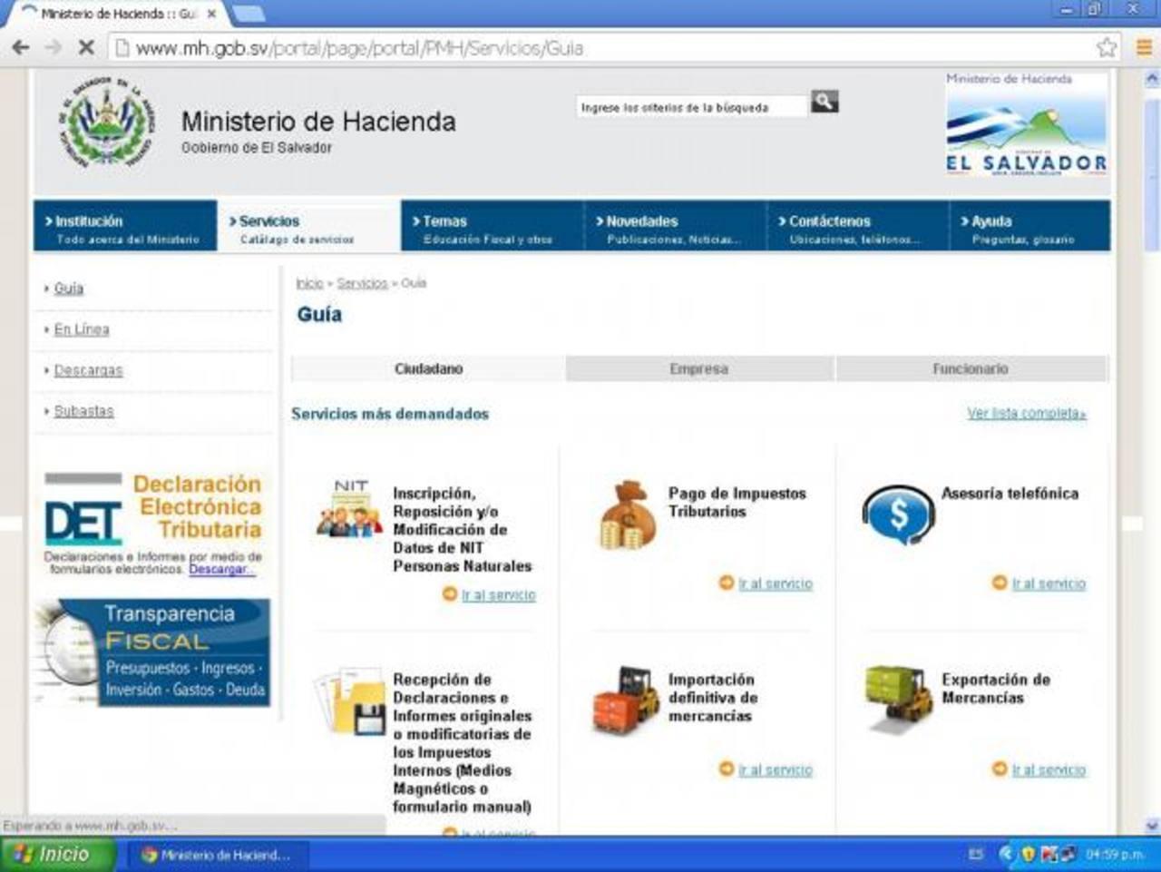 Estos servicios facilitarán el proceso de trámites para los contribuyentes. foto edh