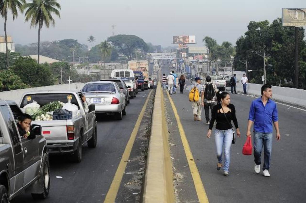 El tráfico en la Troncal del Norte colapsó por obras de Fovial