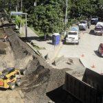 El asfalto de la Panamericana se ha removido. Sólo hay un limitado acceso a ella desde el bulevar de Los Próceres. Foto EDH/