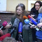 Maria Alekhina, de la banda punk Pussy Riot, fue liberada luego que el Parlamento aprobara la ley de amnistía. Foto/AP