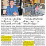 En la imagen de arriba, la publicación de El Diario de Hoy del domingo anterior, con respecto al despido. Foto EDH / Archivo