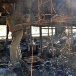 El incendio ocurrió a unos dos kilómetros del pequeño poblado de Puttaparthi, en el estado de Andhra Pradesh. FOTO EDH AP