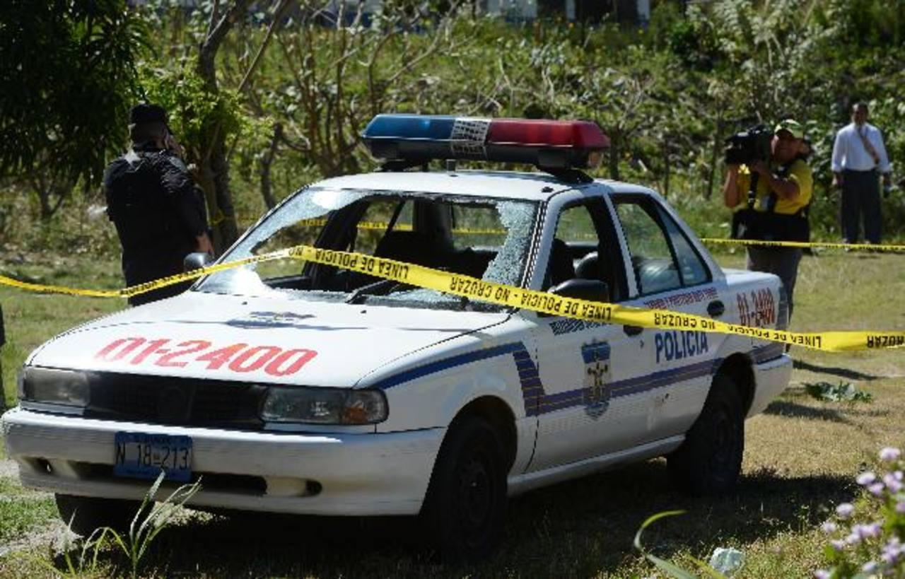 Esta semana, tres pandilleros atacaron a balazos esta patrulla en la urbanización Vista al Lago, Ilopango. foto edh / Archivo