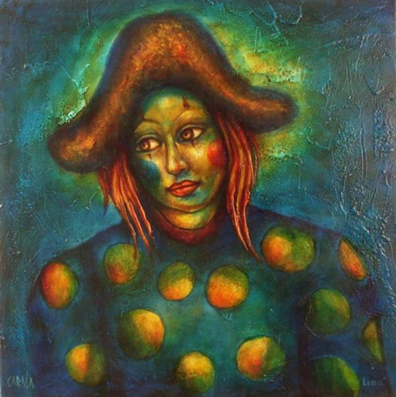 """La obra """"Luna"""" hecha en acrílico sobre lienzo también estará en la muestra. Foto / Cortesía"""