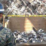 Fuerza Armada se encargó de destruir 2 mil armas incautadas por autoridades en distintos procesos. FOTO EDH/J. Anaya