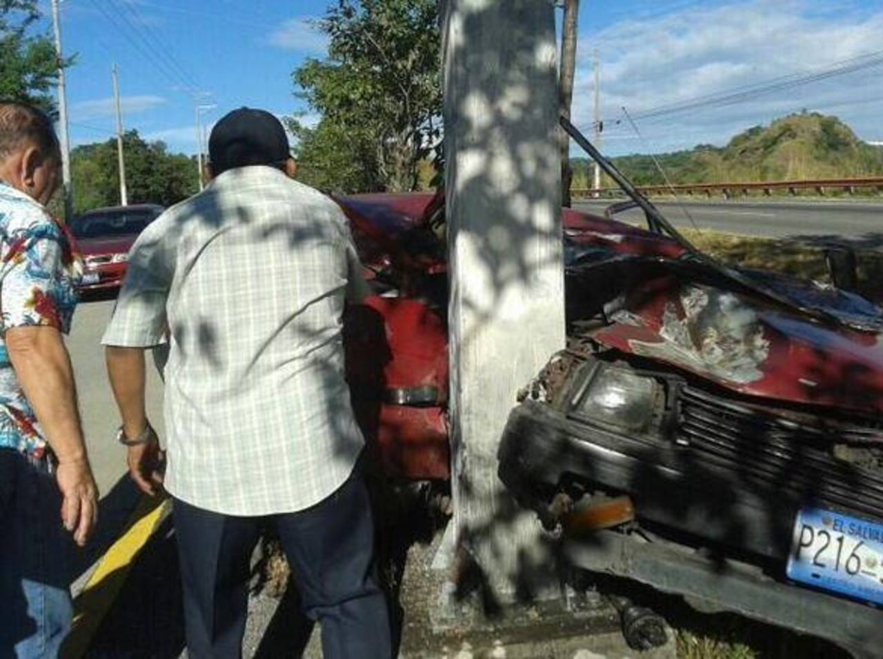 Así quedó el vehículo accidentado. FOTO EDH Georgina Vividor.