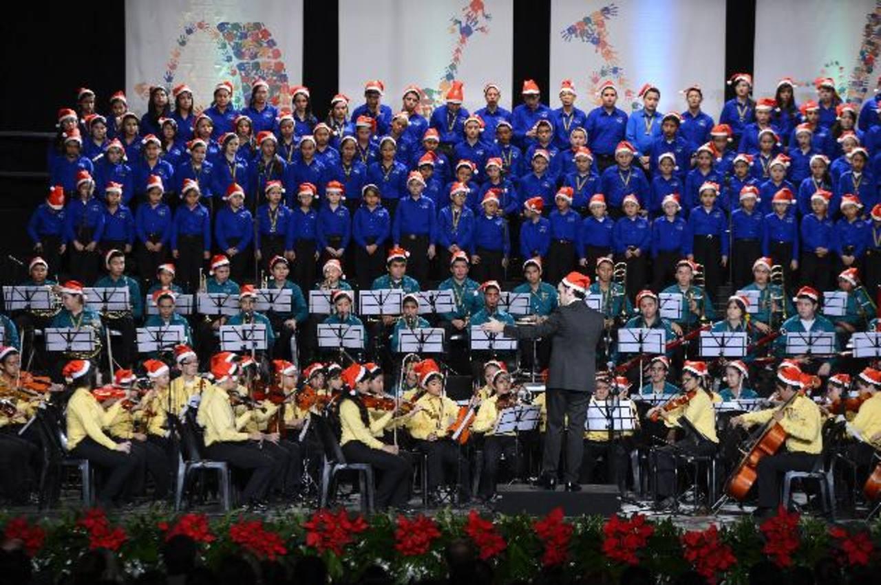 La música y el talento se fusionó en el concierto solidario. Fotos EDH / marvin recinos