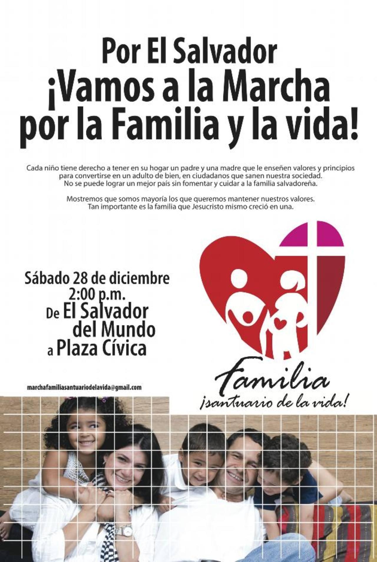 Este es el afiche que la Red de la Familia publicó para el gran evento de este día, donde habrá diversas actividades religiosas. Foto EDH