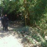 Em esta quebrada fue encontrado el cadáver en Apopa FOTO EDH Angela Castro, vía Twitter.