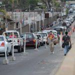 Caos vehicular se registra en la carretera Troncal del Norte debido a los trabajos que realiza Fovial en la zona. Foto EDH/ Mauricio Cáceres