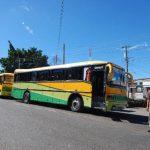 Desde hace poco más de tres meses, los autobuses que viajan de El Salvador a Guatemala, y viceversa, están siendo desviados a la frontera San Cristóbal. Foto EDH / Cristian Díaz