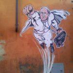 La imagen del papa Francisco como Superman que compartida por la prensa de la Santa Sede. Foto tomada del Twitter @PCCS_VA