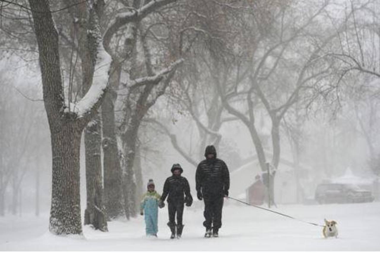 Primera tormenta invernal de 2014 llega con gélidas temperaturas